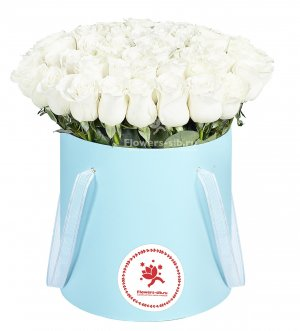 Box with 55 roses
